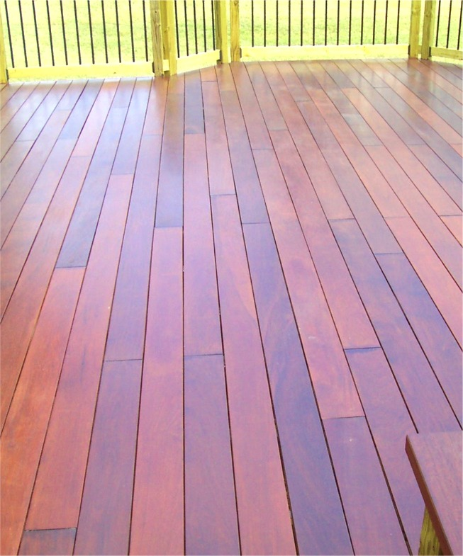 Stained, sealed Ipe Decking